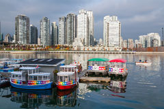 Aquabus Ferry at False Creek, Vancouver Stock Photos