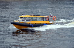 Aquabus on the Neva River Royalty Free Stock Image
