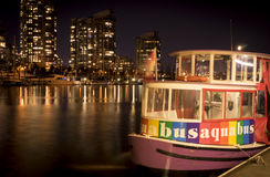 Aquabus at Night Stock Image