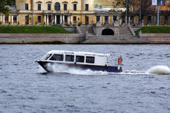 Aquabus (water bus) in St. Petersburg Stock Image