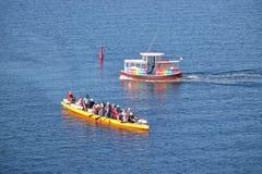 Aquabus y club de la canoa de Vancouver Fotos de archivo libres de regalías