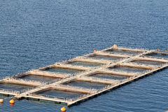 Aquaculture. Fish farms in Peloponesse, Greece Royalty Free Stock Photography