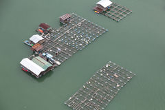 Aquaculture. From a bird's perspective stock photo