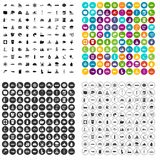 100 aquaculture icons set vector variant. 100 aquaculture icons set vector in 4 variant for any web design isolated on white Stock Image