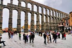 Aquaduct de Segovia, Spain foto de stock royalty free