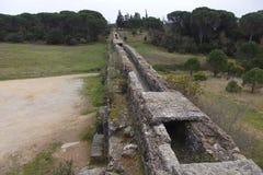 Aquaduct dichtbij Tomar Portugal stock afbeelding