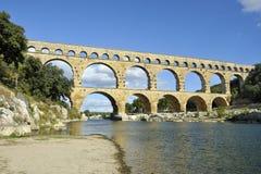 aquaduct du Γαλλία Gard pont Ρωμαίος Στοκ φωτογραφία με δικαίωμα ελεύθερης χρήσης