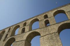 Aquaduct i Kavalla Grekland fotografering för bildbyråer