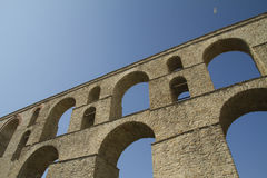 Aquaduct in Kavalla Greece Stock Image