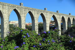 Aquaduct in Lisbon Stock Photography
