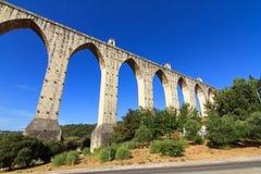 Aquaduct livres Lissabon Stock Fotografie