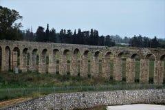 Aquaduct Lohamei Hageta ?ot royalty-vrije stock afbeelding