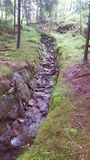 Aquaduct. Old stone aquaduct in Norwegian Forest Royalty Free Stock Photography