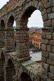Aquaduct på Segovia Arkivfoton
