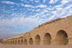 Aquaduct romain antique Images stock
