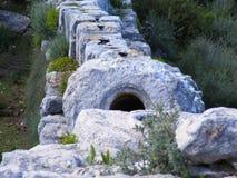 Aquaduct romano Imagen de archivo libre de regalías