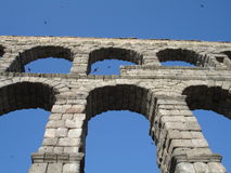 Aquaduct in Segovia Stock Photography