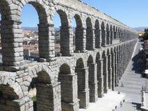 Aquaduct in Segovia, Spanje Stock Afbeeldingen