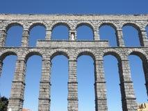 Aquaduct in Segovia, Spanje Royalty-vrije Stock Foto's