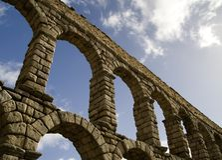 Aquaduct van Segovia 2 Royalty-vrije Stock Fotografie