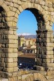 Aquaduct van Segovia, Spanje Stock Afbeelding