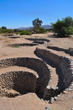 Aquaducts péruviens antiques Images stock