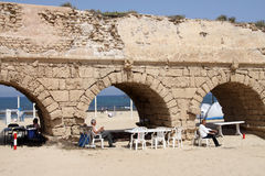 Aquaeductus of Caesarea Royalty Free Stock Photo