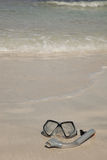 Aqualung on the beach. Diving Stock Photography