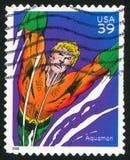 Aquaman. UNITED STATES - CIRCA 2006: stamp printed by United states, shows Aquaman, circa 2006 royalty free stock image