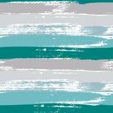 Aquamarine και γκρίζο σχέδιο κτυπήματος βουρτσών χρώματος κρητιδογραφιών άνευ ραφής Διανυσματική ανασκόπηση ελεύθερη απεικόνιση δικαιώματος