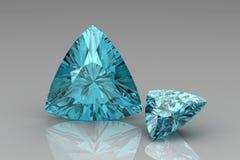 Aquamarine. A 3d illustration of a aquamarine gem Royalty Free Stock Photo