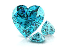 Aquamarine. (high resolution 3D image Stock Images