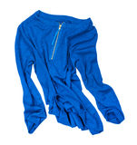 Aquamarine blue blouse in motion Stock Photo