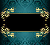 Aquamarine vector card with pattern Royalty Free Stock Image