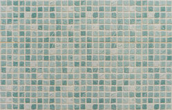 Aquamarine colored mosaic texture Royalty Free Stock Photography