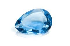 Aquamarine-Edelstein Lizenzfreies Stockbild