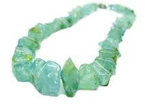 Aquamarine gem necklace jewelery Royalty Free Stock Photography
