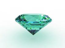 Aquamarine Gemstone on White Background. 3D Royalty Free Stock Images