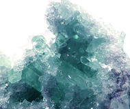 Aquamarine geode geological crystals Stock Images