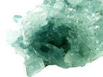 Aquamarine geode geological crystals Royalty Free Stock Images