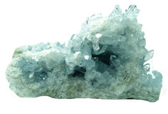 Aquamarine geode geological crystals Stock Photography