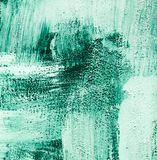 Aquamarine green turquoise and white brushed paint background texture abstract brush strokes chaotic style stock images