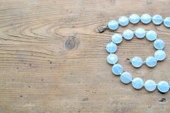 Aquamarine Halskette Lizenzfreie Stockfotos
