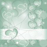 Aquamarine Heart wishing card Royalty Free Stock Photo