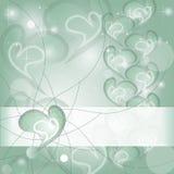 Aquamarine Heart wishing card. With shines and headline Royalty Free Stock Photo