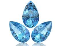 Aquamarine. (high resolution 3D image Stock Image