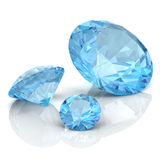 Aquamarine. (high resolution 3D image Royalty Free Stock Photos
