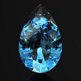 Aquamarine. (high resolution 3D image Stock Photo