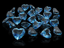 Aquamarine. (high resolution 3D image Royalty Free Stock Image