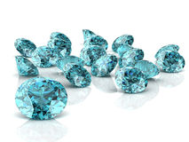 Aquamarine. (high resolution 3D image Royalty Free Stock Photography
